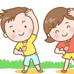 夏休み子供会のラジオ体操