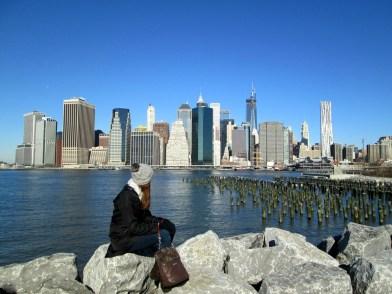 View to Manhattan from Brooklyn Promenade