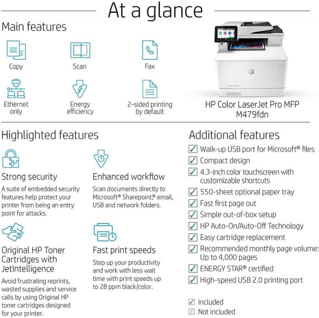 HP Color Laserjet M479fdn
