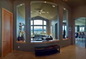 open concept with view to water