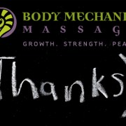 Thank you from Body Mechanix Massage