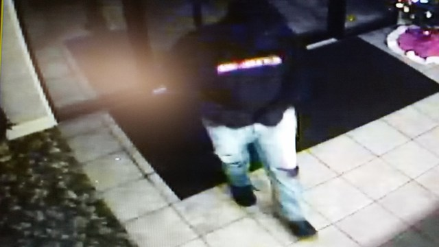 Surveillance photos of the suspect from the Days Inn Robbery