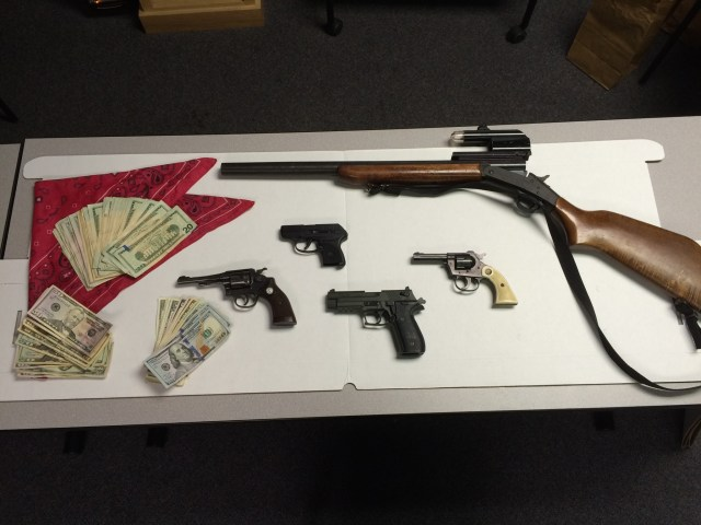 Firearms and Cash seized during Capital Green operation