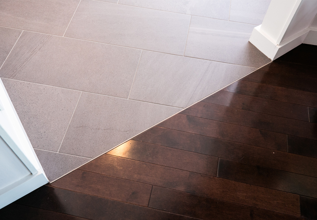 tile to wood floor transition dover