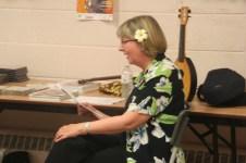 Liz Beloff, singing along