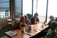 Jenny, Cat, Jim Beloff at Callahan's on the Beach