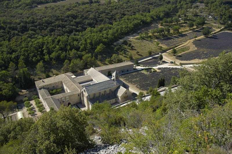 Abbazia di Senanque vista da sopra