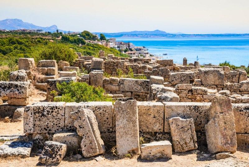 Selinunte città antica Pianoro della Manuzza