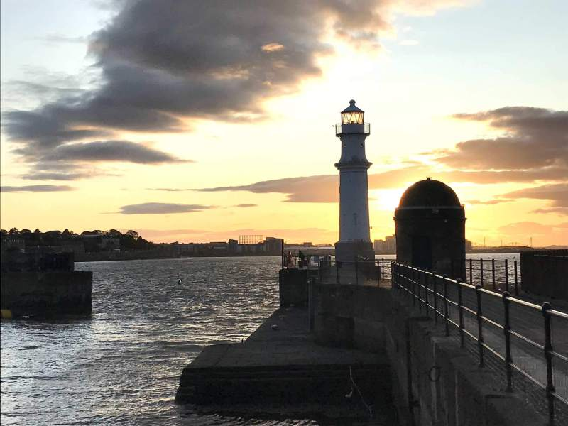 Leith at sunset
