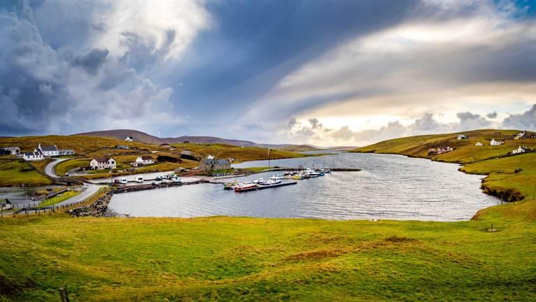 Shetland Burra island