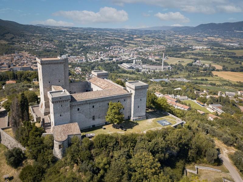 Rocca di Narni drone