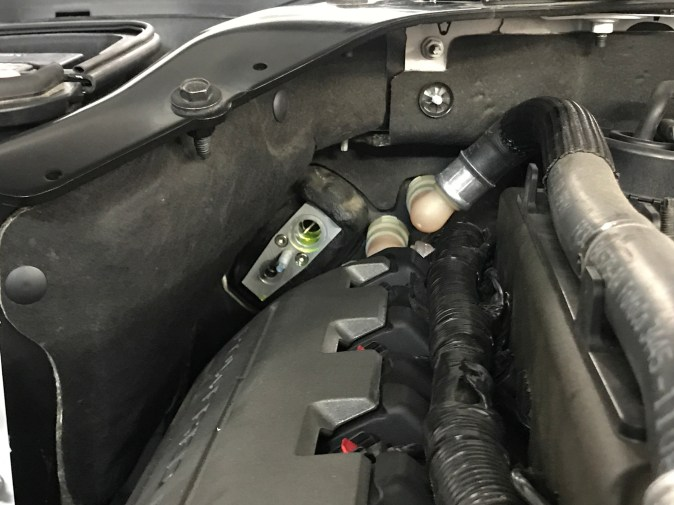 2015-2017 Mustang GT AC Lines Removed Firewall