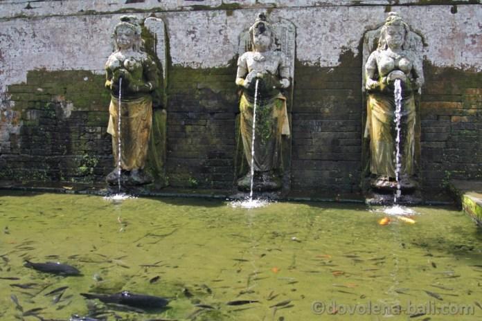 Goa Gajah bazén - ženský symbol plodnosti