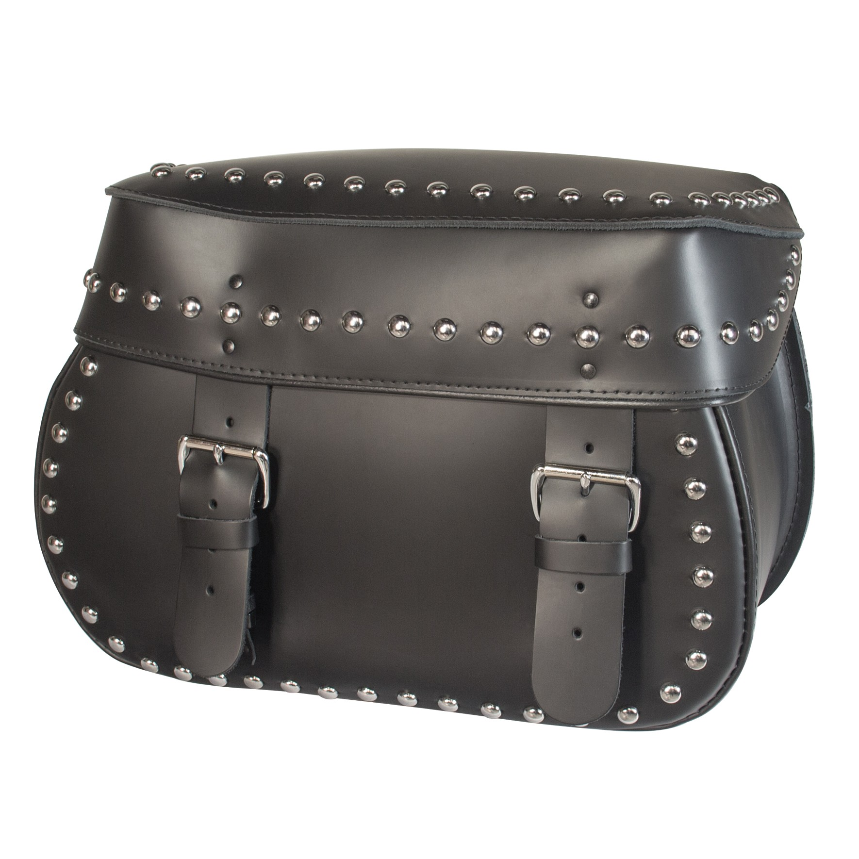 Willie and Max Mighty Legend Studded Leather Saddlebags