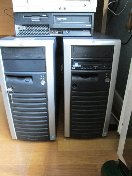 Two HP ProLiant tower servers, side by side. Self-hosting a website can work on much older hardware.