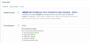 Yoast SEO screenshot
