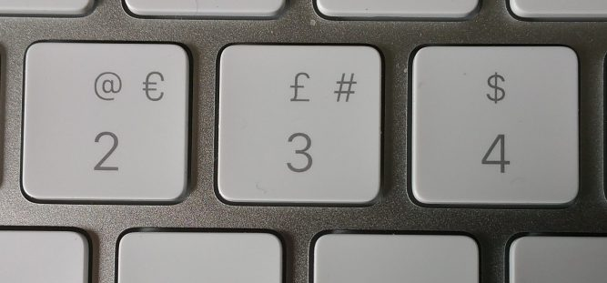 '3' key on Mac keyboard.