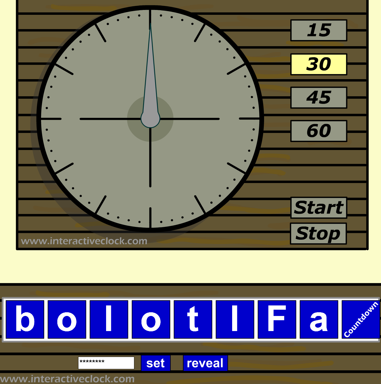 Try Countdown Clock To Create Anagram Games In English