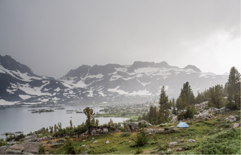 PCT #99, 923mi: A shitty night, running away from more