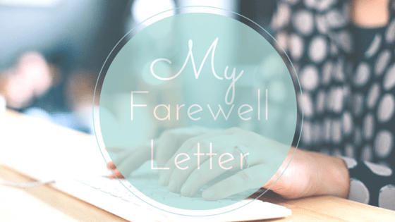 Farewell letter life coach