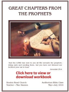 Great Chapters From The Prophets- Cover