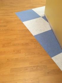 flooring, LVT, VCT, bright color, medical office, TI, tenant improvement, Dowling Construction