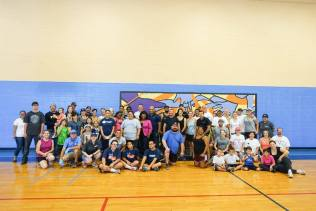 All volunteers from the work party. Photo courtesy of BOMA San Diego's Facebook Page.