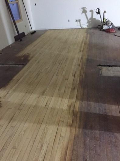 Start of sanding downstairs floor