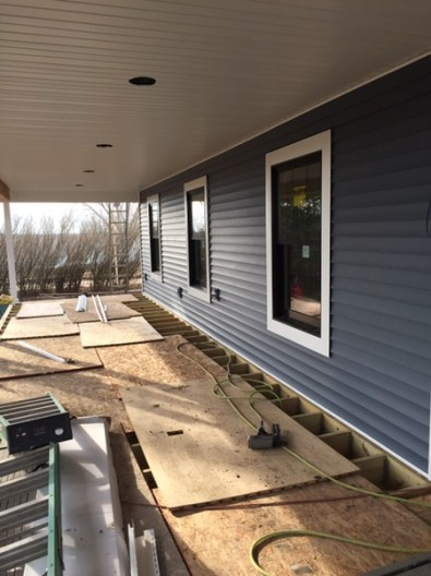 South side of the house - siding & soffit!