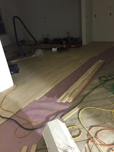Laying new floor