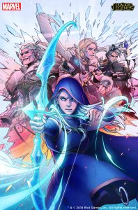 Marvel League of Legends Cover Ashe