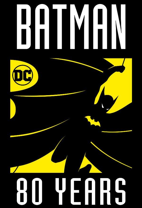 Batman 80 Years Logo