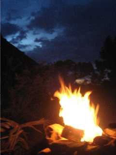 Indian Creek campfire
