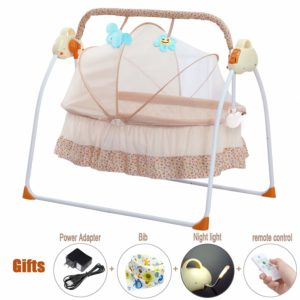 CBBAY Electric Cradle Baby Swing Bed Automatic Bassinet
