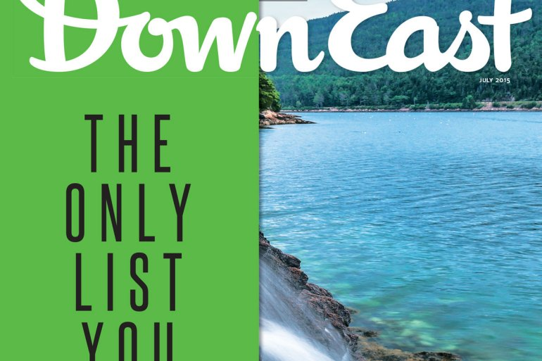 Down East Cover, July 2015