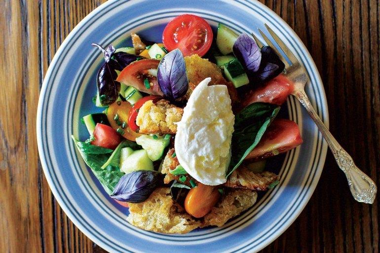 Maine Recipe, Tomato & Bread Salad