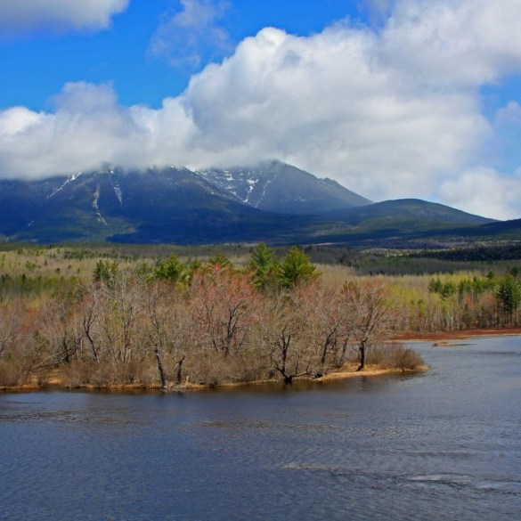 Mount Katahdin from within Baxter State Park.