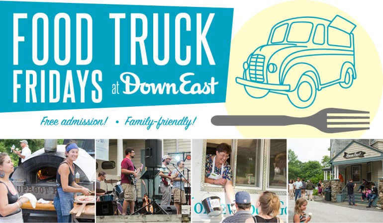 Food trucks in Maine at Down East Food Truck Fridays
