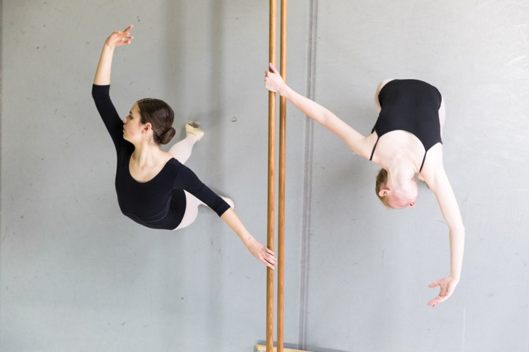 Dancers in the Bossov Ballet Theatre at Maine Central Institute.