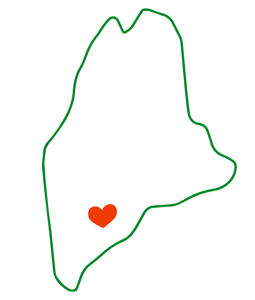 Maine heart Pattern