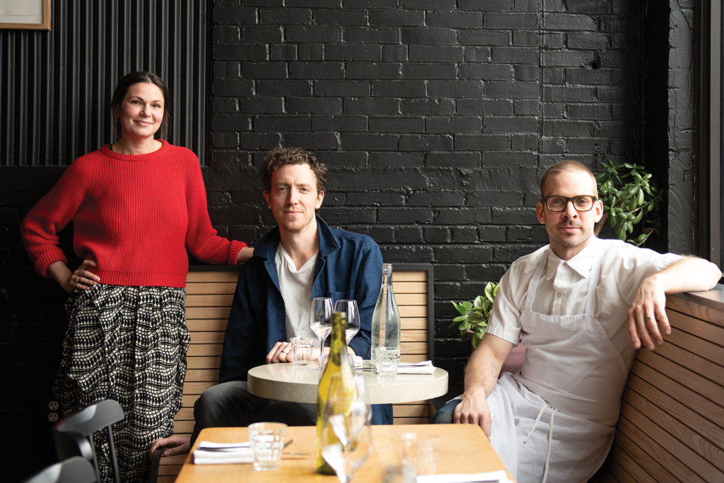 Owners Orenda and Peter Hale, with chef Ben Jackson.