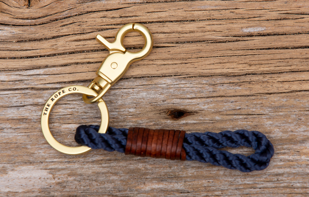 The_Rope_Co_Keychain_Navy_Brown