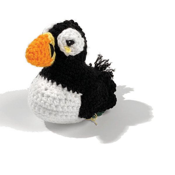 Hand-Crocheted Puffin Doll