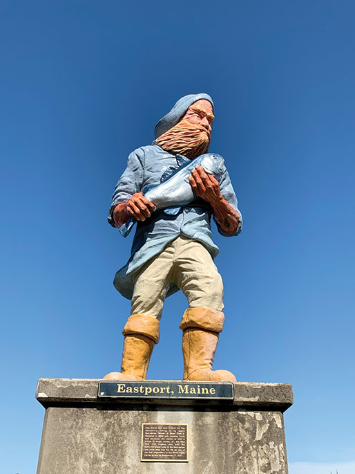 Eastport, Maine's 12-foot fisherman statue