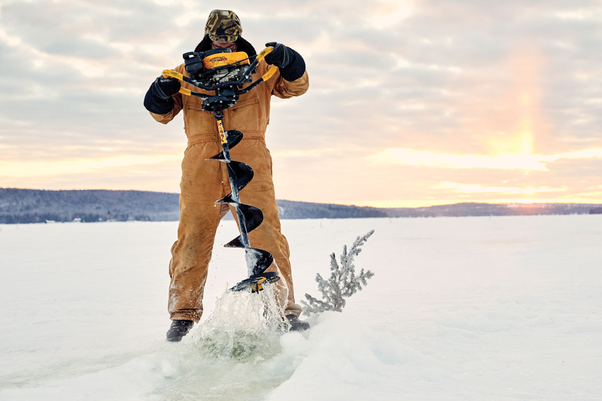 ice-fishing derby in Aroostook County Maine