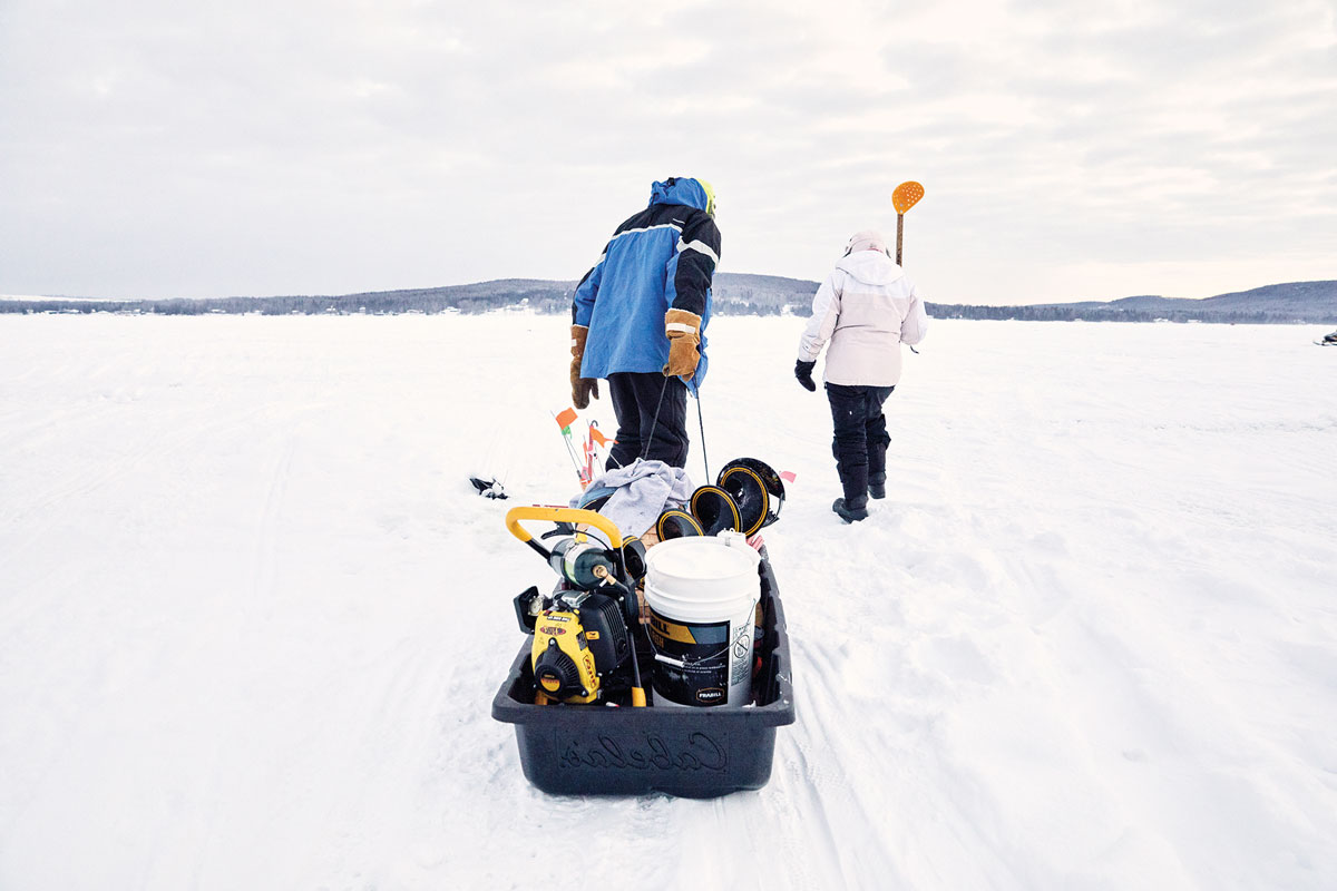 The Long Lake Ice Fishing Derby in Maine