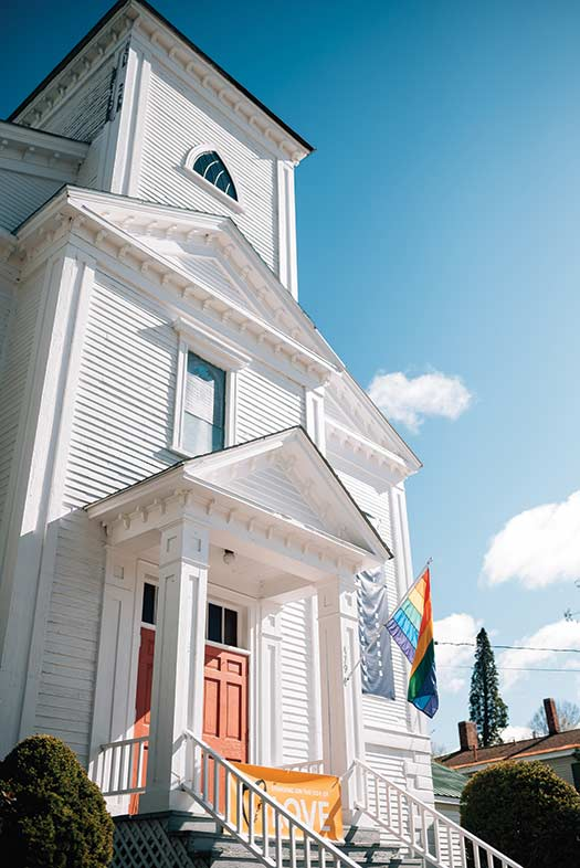 Norway's First Universalist Church, built in 1848