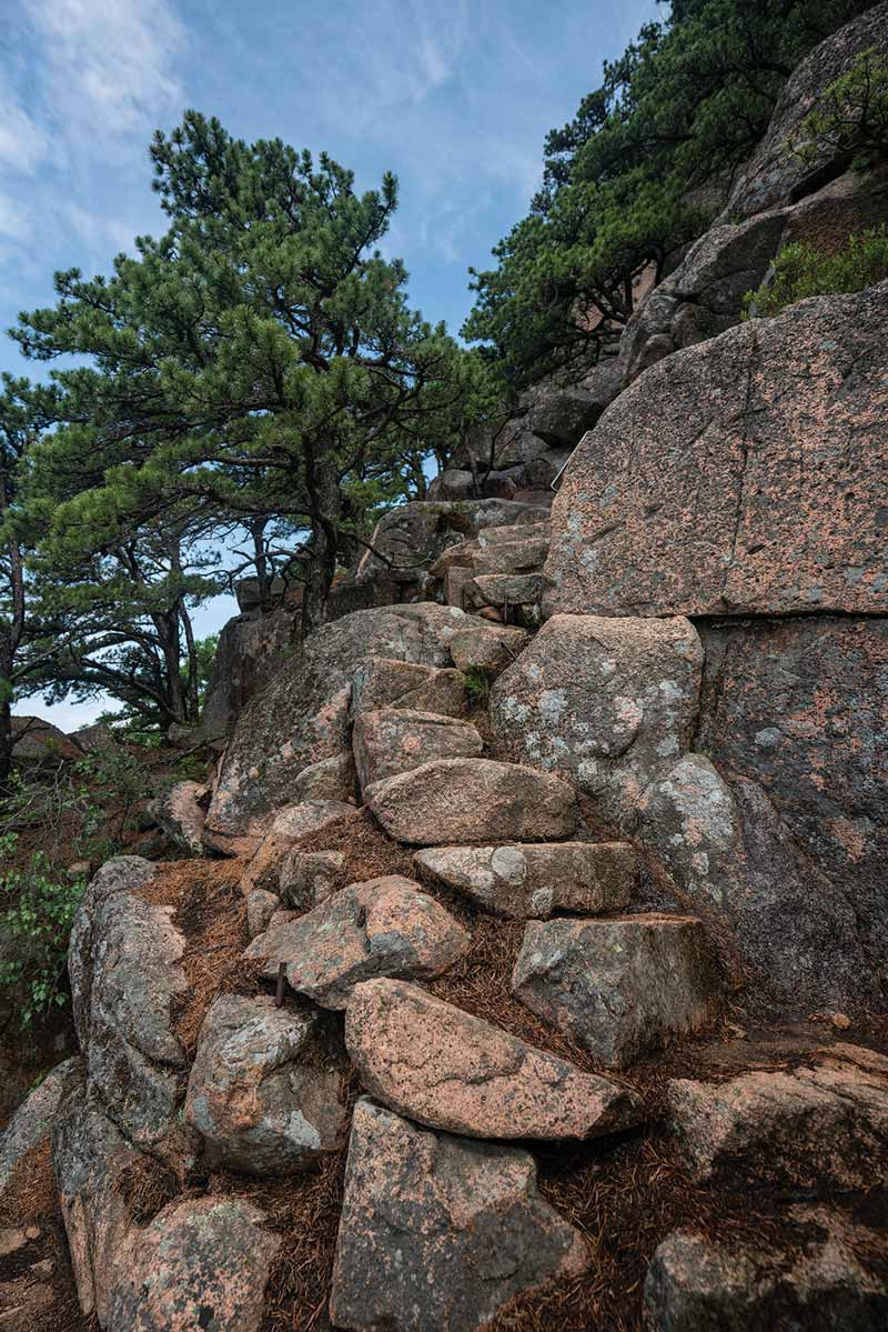 Scenes from the Beehive Trail in Acadia