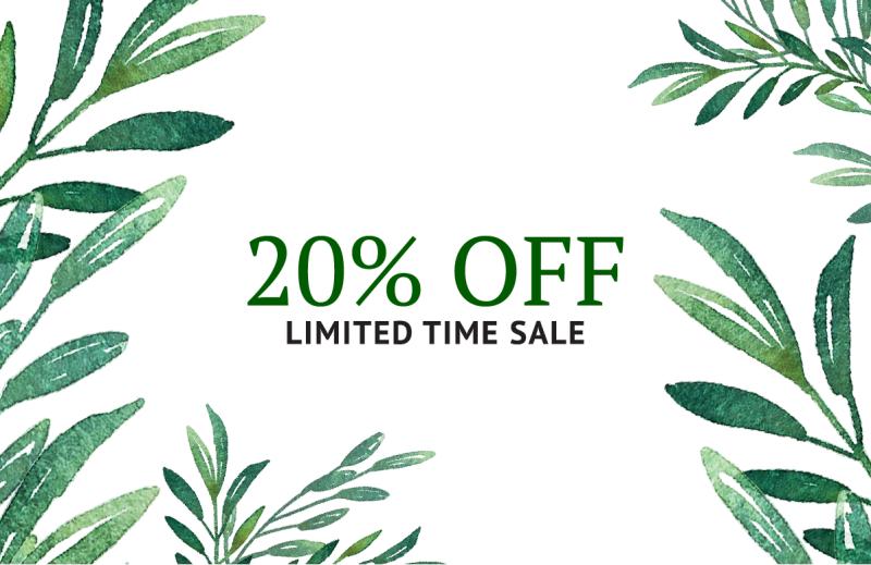 20% Off Limited Time