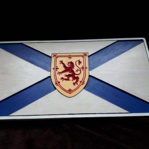hardwood carved nova scotia sign